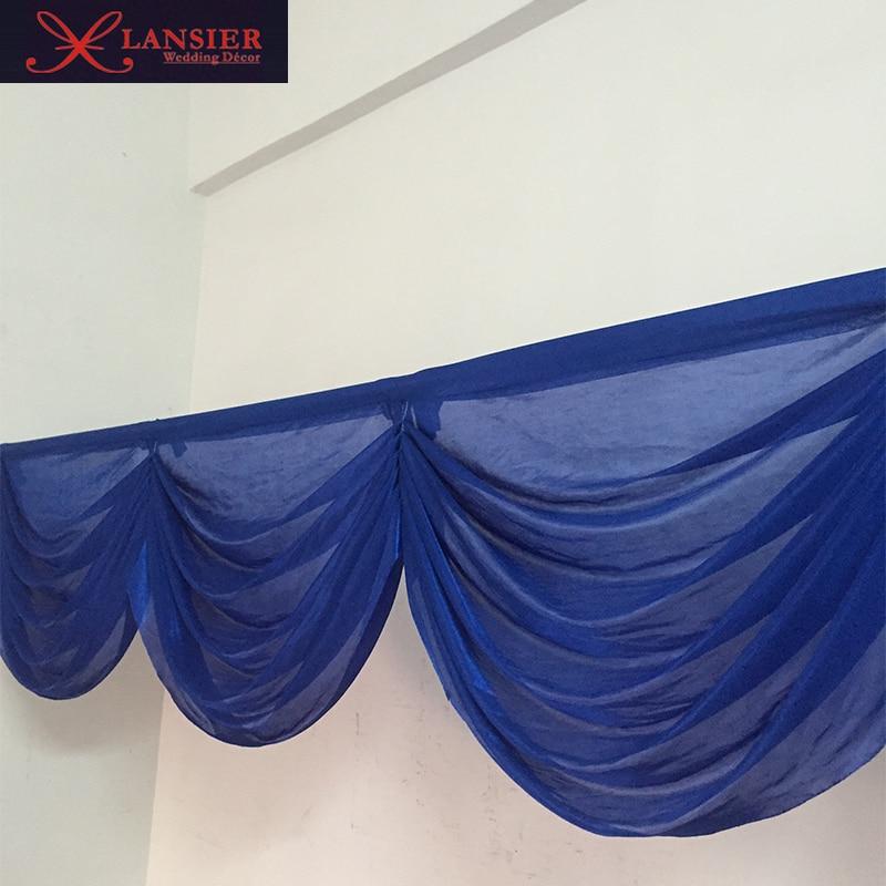 2016 nový příchod horké svatební lupy královské modré svatební dekorace pozadí pro akci strana banket dekorace 6 metrů délky
