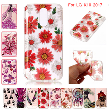 Transparent TPU case for LG K10 2017 M 250 250M 250Y M250 M250M M250Y shining Phone Cover for LG K 10 2017 LGM250 LG-M250 M250DS смартфон lg k10 2017 m250 gold