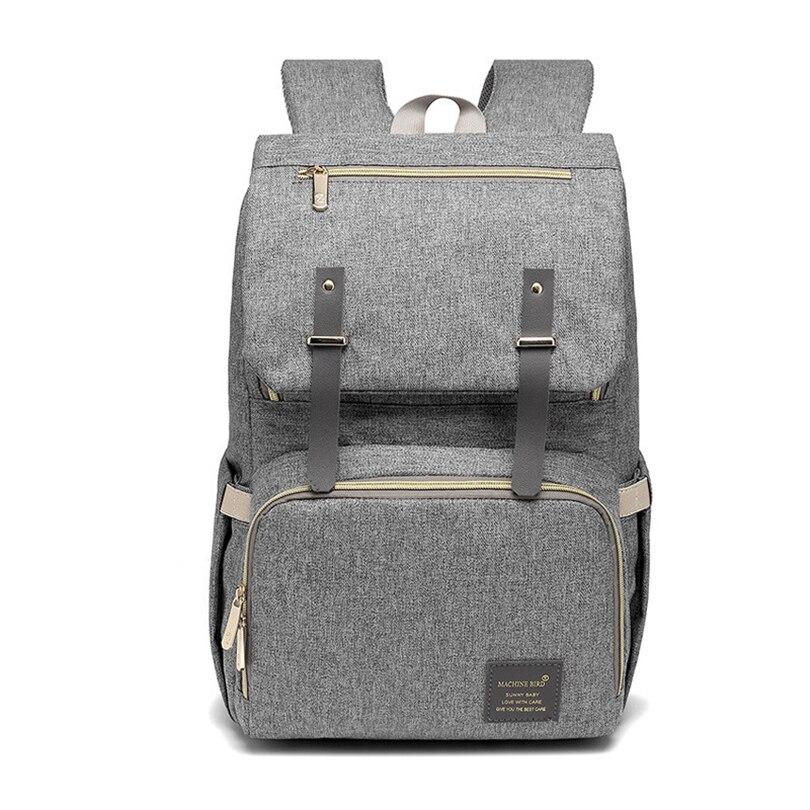 2018 Hot Korean Version Of Mummy Bag Multi-function Large Capacity Multi-function Backpack Travel Bag Diaper Bagbreastfeedingbag multi function green