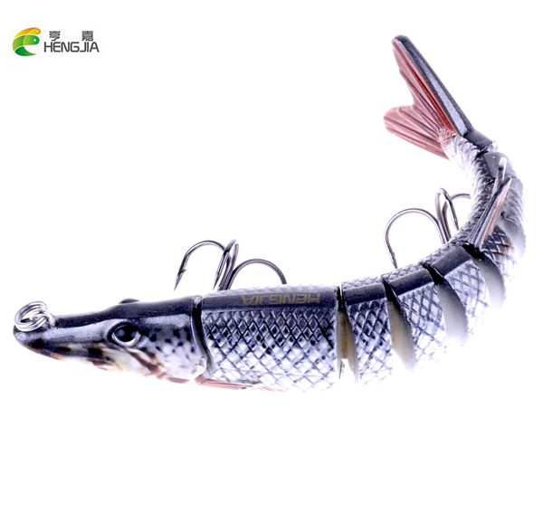 HENGJIA 13cm 20g Lifelike Crocodile  Fishing Lure 9-segement Swimbait Crankbait Pesca Hard Fish Bait Treble Hook Fishing Tackle mmlong 12cm realistic minnow fishing lure popular fishing bait 14 6g lifelike crankbait hard fish wobbler tackle pesca ah09c