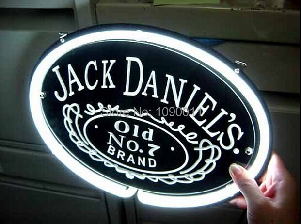 Jack Daniels Michigan Whiskey Real Neon Light Beer Bar Sign Advertising Star