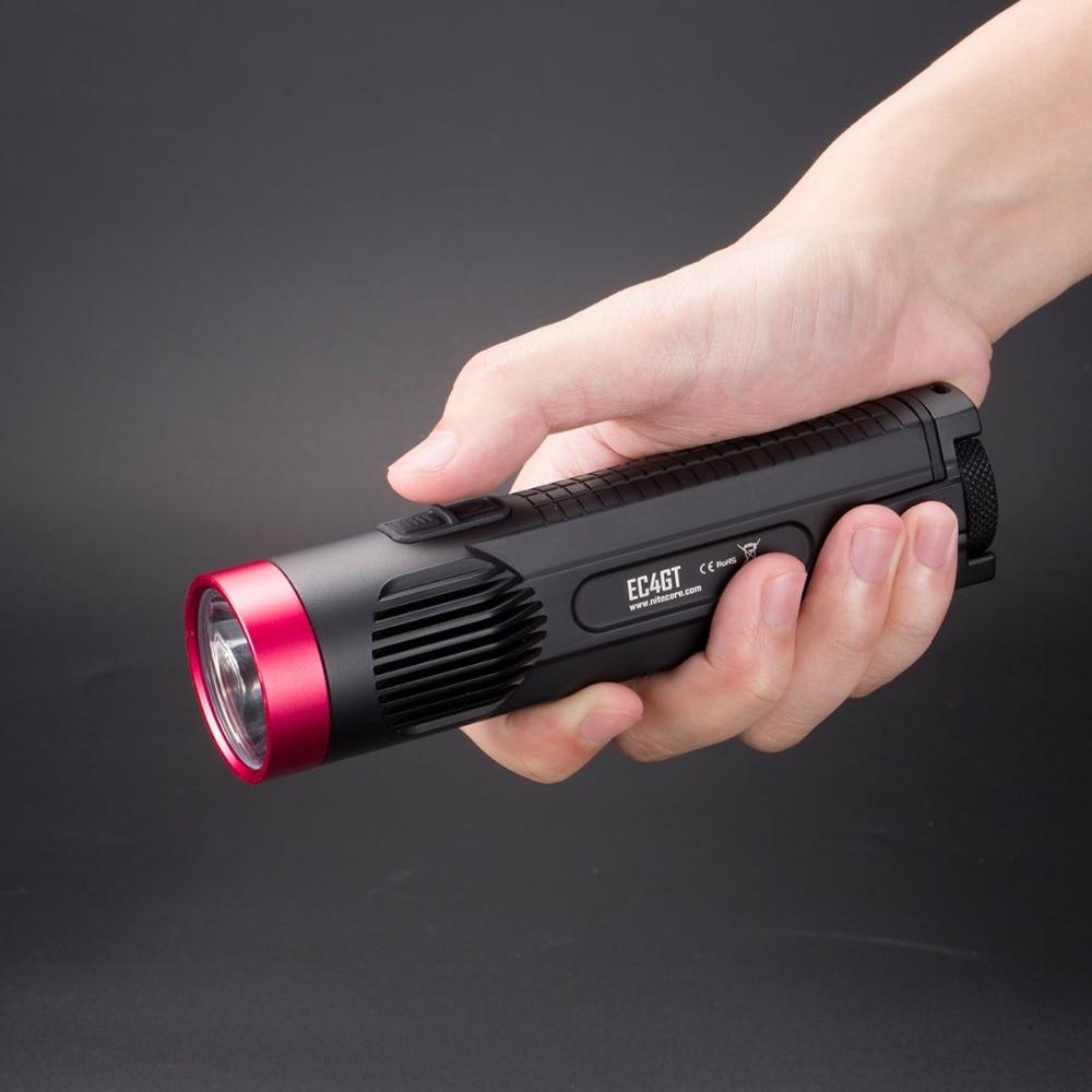 NITECORE EC4GT (rouge) édition limitée pratique Portable 1000 Lumens émetteur lampe de poche torche lampe lumière pour la chasse Camping pêche
