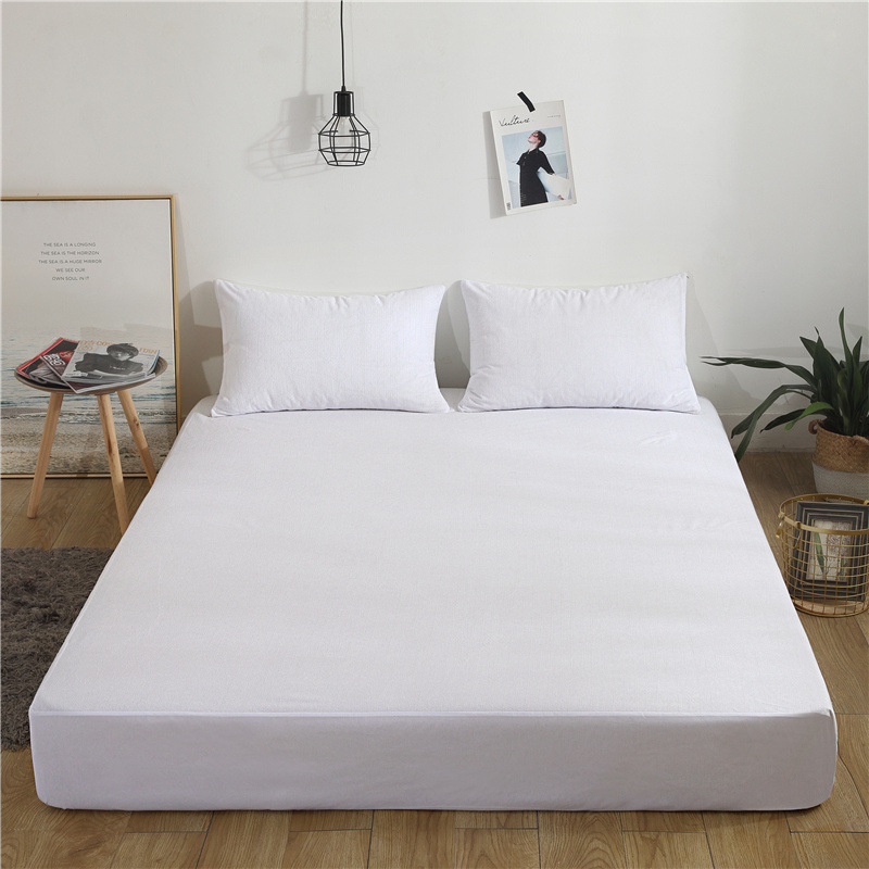 2019 New Bed Mattress Cover Waterproof Mattress Protector Pad Fitted Sheet Separated Water Bed Linens with Elastic Bug Proof Mat
