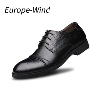 EuropeWind Mens Shoes Oxford Genuine Leather Men Shoes Wedding With Lace Up And Pointed Toe Business