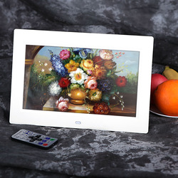 10 HD TFT-LCD 1024*600 Digital Photo Frame Clock MP3 MP4 Movie Player with Remote Desktop