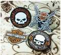 Free Shipping   4pcs/lot Motorcycle embroidery biker iron on patches on Embroidery badge  Embroidered Patch  custom patches