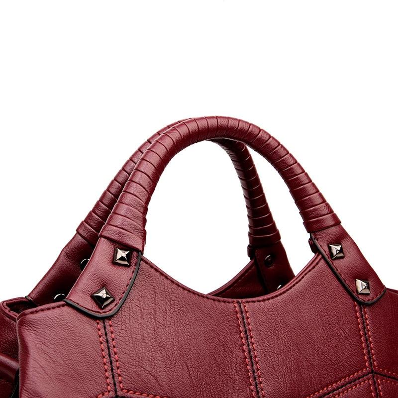 f77941be8 Kavard Mulheres Sacola Fio Top handle Bags Bolsas Mulheres Marcas Famosas  feminino Costura Casual Mulheres Messenger Bags Totes Sac em Bolsas  Estruturadas ...