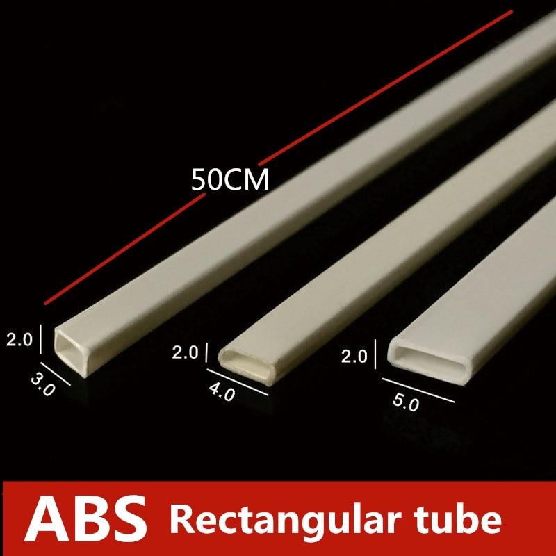 DIY Manual Material Plastic Pipe Material ABS Hollow Rectangular Tube Model100pcs