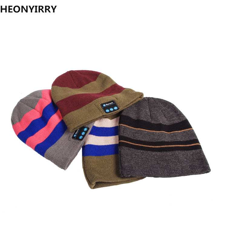 HEONYIRRY Wireless Bluetooth headphones Music hat Smart Caps Headset earphone Warm Beanies winter Hat Speaker Mic for sports 35colors silver gold soild india scarf cap warmer ear caps yoga hedging headwrap men and women beanies multicolor fold hat 1pc