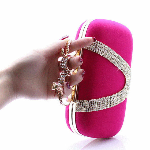 Fashion Evening Bags Luxury Rhinestone Diamond Solid Bags High Quality Socialite Women Day Clutch Bag