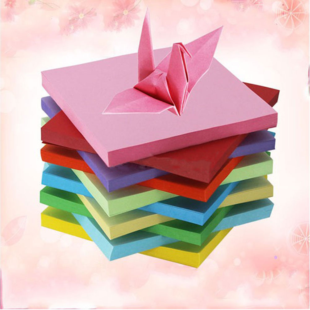 Double sided craft paper - 100pc Origami Square Paper Double Sided Scrapbooking 10cm Handmade Mix Paper China Mainland