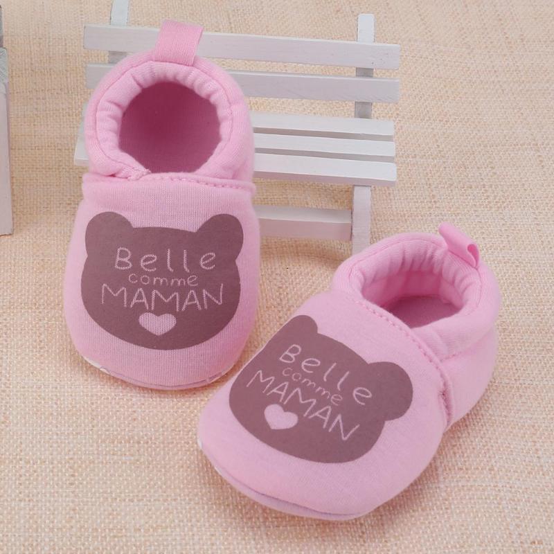 Shoes Prewalker Baby-Boys-Girls Anti-Slip Toddler Letter Summer Sweet Spring Cotton Bear