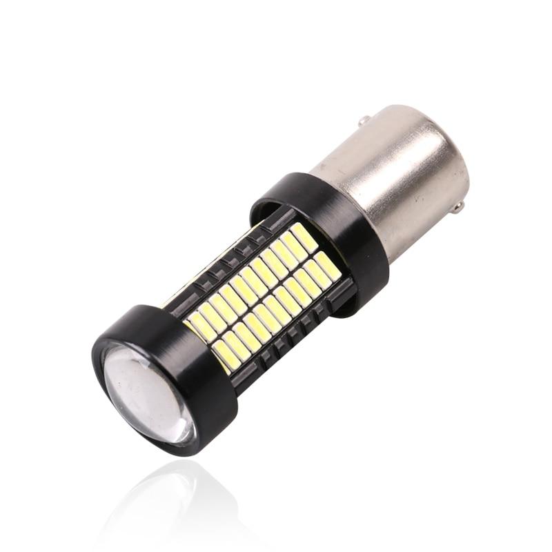 Новый 2шт 1156 BA15s P21W 108 светодиодов 4014 СМД автомобилей хвост лампы стоп-сигналы автореверса Лампа дневного света красный белый постоянного тока 12В