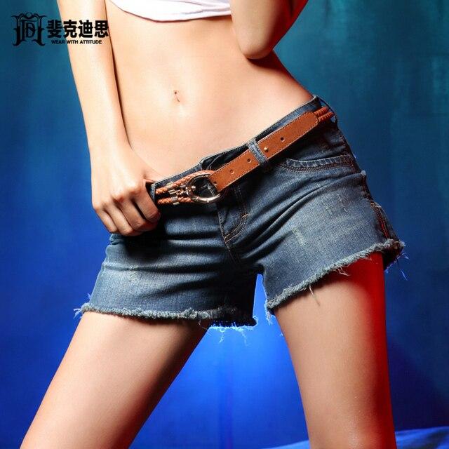 Fxdis denim shorts female sexy shorts women's thin super shorts