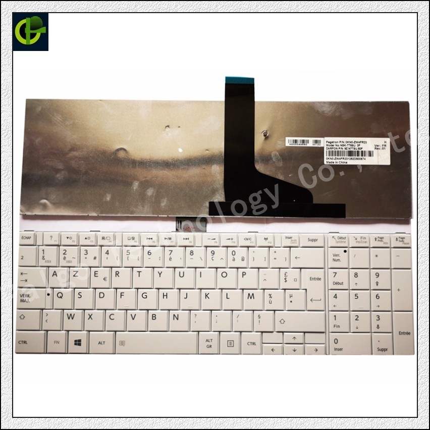 French Keyboard For TOSHIBA SATELLITE C850 C855D C850D C855 C870 C870D C875 C875D L875 L875D 0KN0-ZW4FR01 V130562BK1 FR AZERTY image