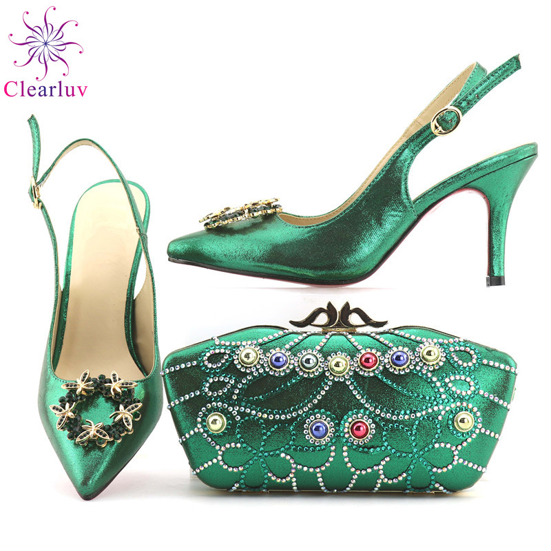 Women Shoe and Bag Set in Italy Shoes and Bag Set African Sets ... e79652983a66