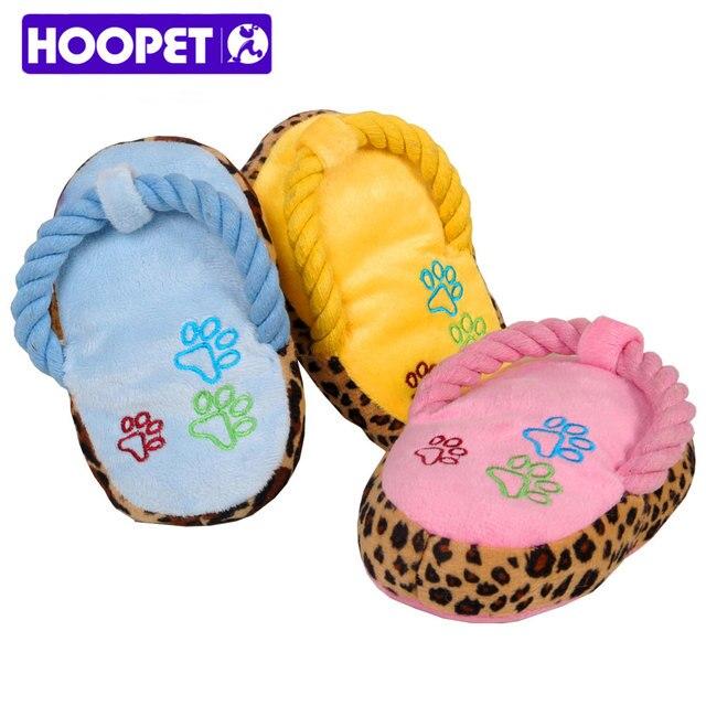 Squeaky Plush Slipper