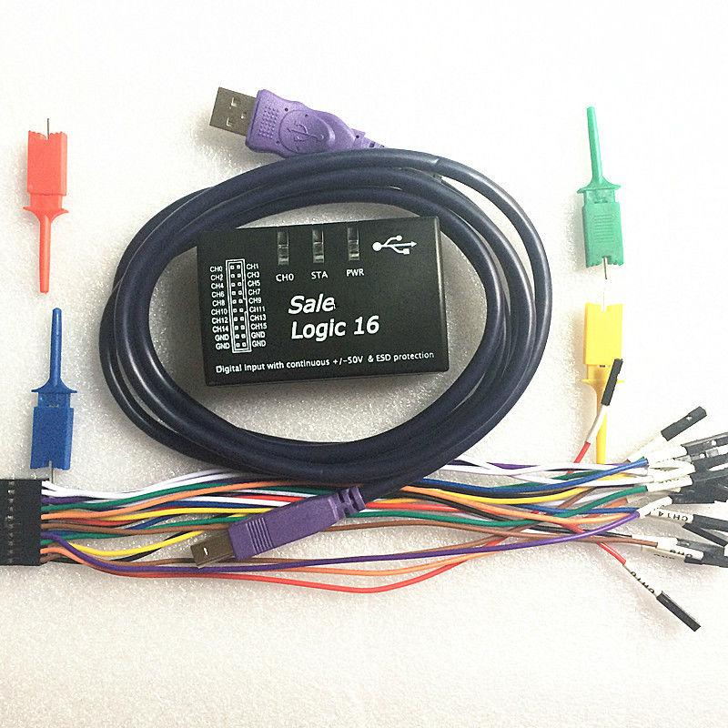 ФОТО Logic16 logic analyzer 100M Support 1.2.5 version software ARM FPGA decoder tool R&D Tools Oscilloscopes