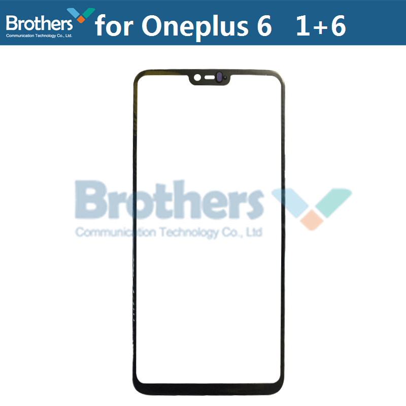 Front Outer Glass Lens For Oneplus 6 Touch Screen Glass Front LCD Glass Lens For Oneplus 6 1+6 Black 6.28\`\` Phone Replacement (2)
