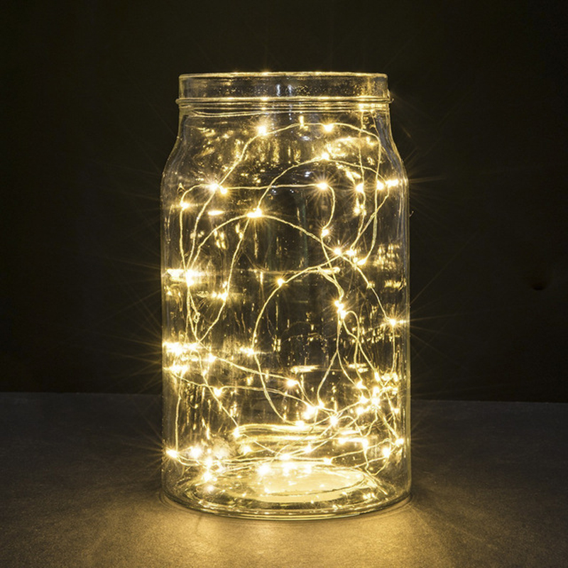 5 pieces/lot Micro LED Light Silver Copper Wire Button Coin Battery Operated Micro LED String Light
