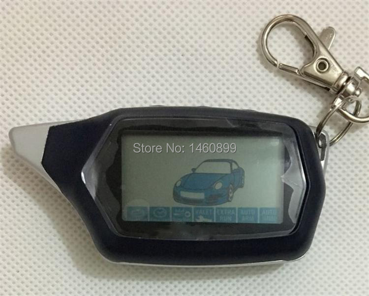 Freeshipping C9 2 Way Car Alarm LCD Remote Control Key Fob For Russian Car Anti-theft System Vehicle Security For Starline C9