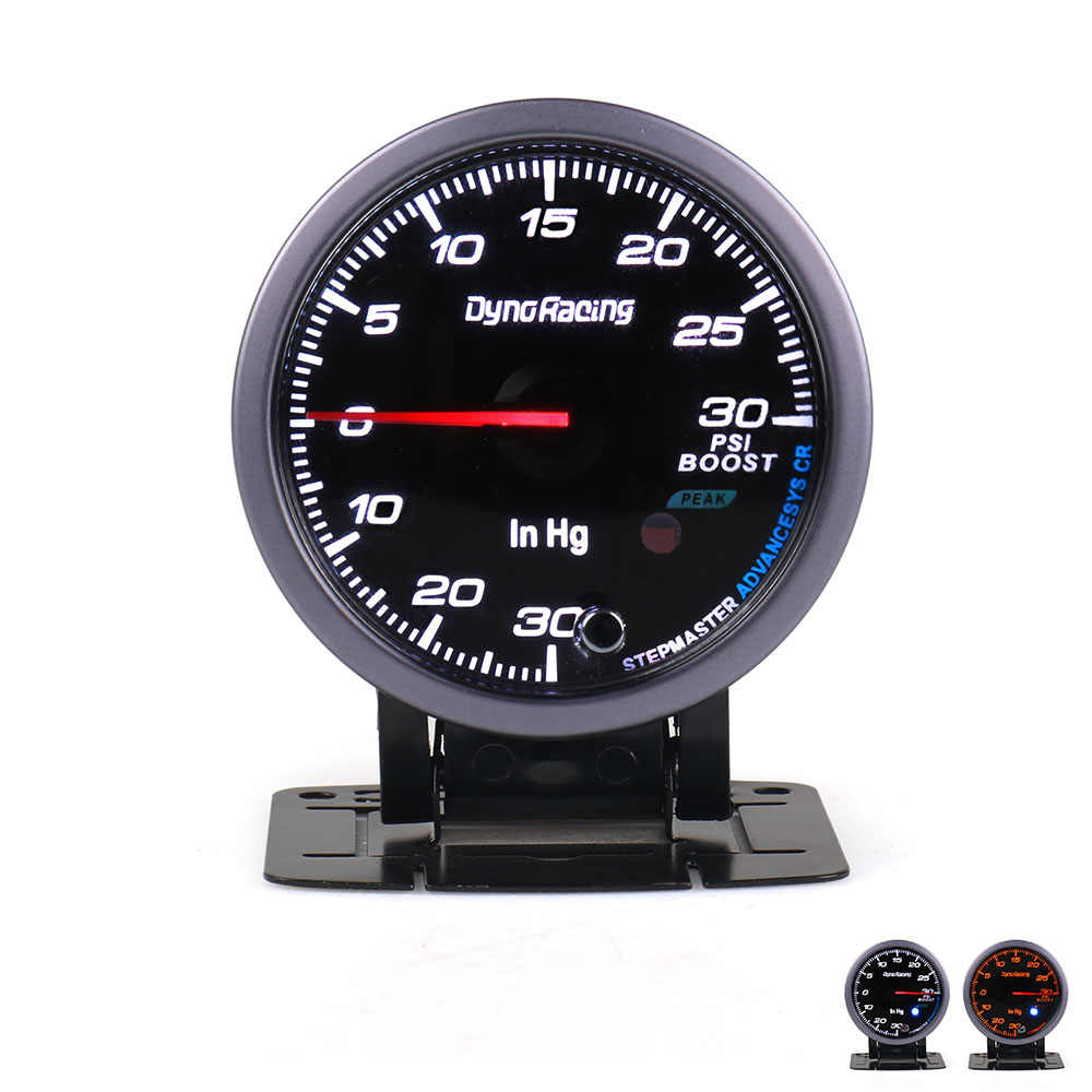 dynoracing 60mm black face car turbo boost gauge psi with white amber lighting turbo boost meter [ 1000 x 1000 Pixel ]