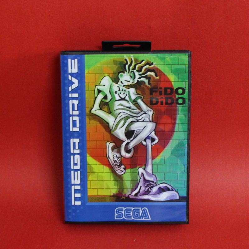 Fido Dido 16 bit MD card with Retail box for Sega MegaDrive Video Game console system