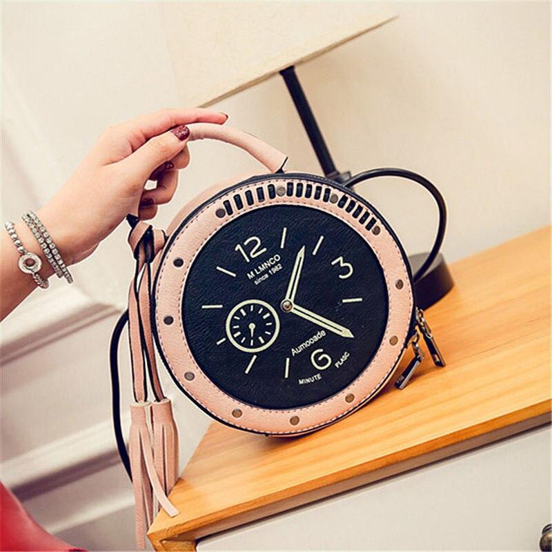 RanHuang Moda Mujer Borla Bolsos Reloj Diseñador Bolsos Pequeños de - Bolsos - foto 3
