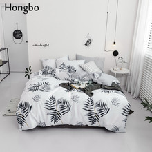 Hongbo Home Textiles Bedding Set Bedclothes Autumn Leaves Pattern include Duvet Cover Bed Sheet Pillowcase Comforter
