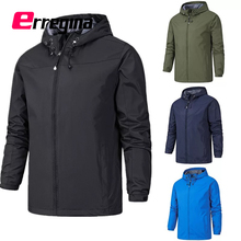 ERREGINA Men Fashion Waterproof Jacket Black/Blue/Red Trench Coat Jackets Windproof for Running cycling Hiking Camping