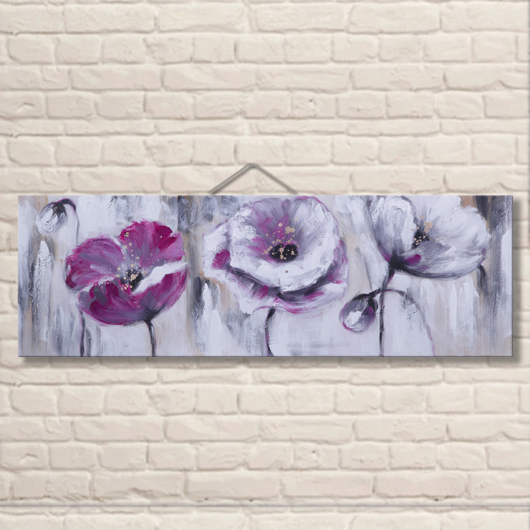 China Supply Home Goods Wall Decor Handmade Modern Art Beautiful Flower Oil Painting For Dining Room