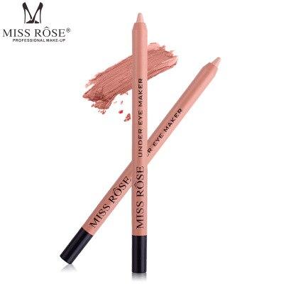 Miss Rose 3Pcs Eyeliner Pencil Non-Stick Cup Mendacity Silkworm Pen Concealer Make-up Waterproof Lengthy-Lasting Eye Liner Cosmetics