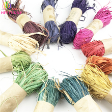 HEY FUNNY 30g/roll  Natural Raffia Rope for DIY crafts Wedding Invitation Gift Packing Party Decoration Flower Wraping