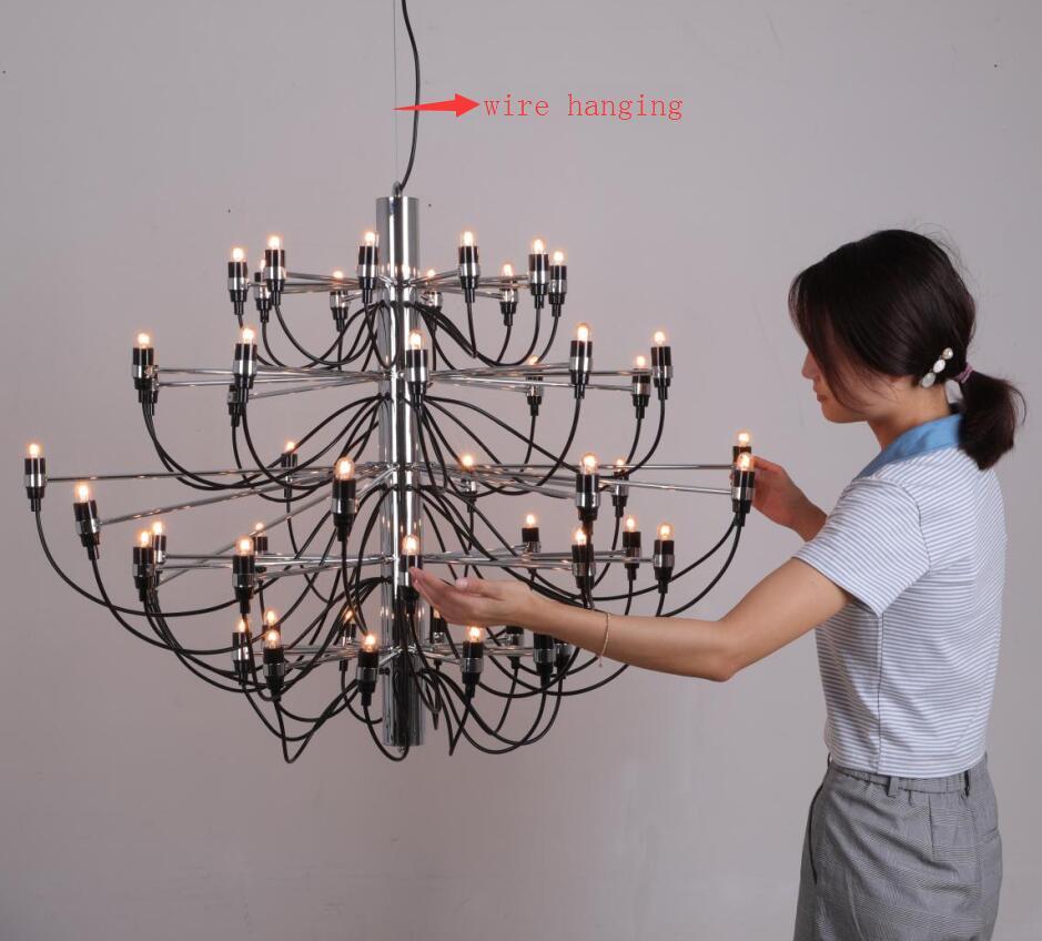 Ouro/Cromo Lustre de sala de estar Moderna iluminação Lustre de design de luxo casa Cozinha Sala de Jantar Luminária 30/50 luzes