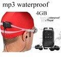 Lindo mp3 descargas gratuitas de música reproductor de mp3 con 4 GB de capacidad a prueba de agua para los deportes, correr, swiming