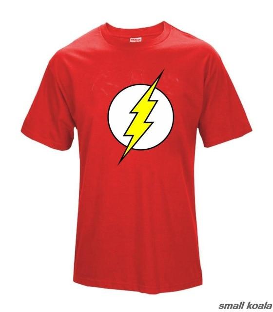 The Big Bang Theory T Shirts The Flash T-Shirts Women Men Dc Comics Sheldon Cooper Distressed Casual Tee Shirts Cotton Clothes
