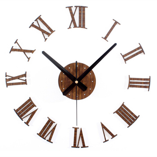 vintage roman number 3d diy wall clock sticker country style watch wall for home office decoration aliexpresscom buy office decoration diy wall