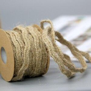 Image 5 - Ficelle en Jute naturelle, 5M, ruban artisanal Vintage, décor en ruban pour décoration de fête de mariage, bobine à domicile, Festival, Scrapbooking, 9 Styles
