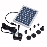 Solar Fountain Pump Water 9V 2W Solar Power Decorative Fountain Water Pumps 150L H Pump
