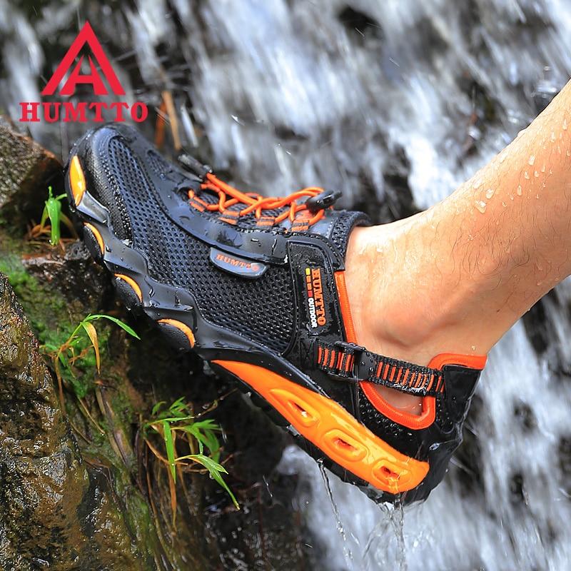 Nouvelle arrivée randonnée en plein air chaussures sapatilhas mulher trekking hommes randonnée scarpe uomo femmes pataugeant amont respirant maille - 2
