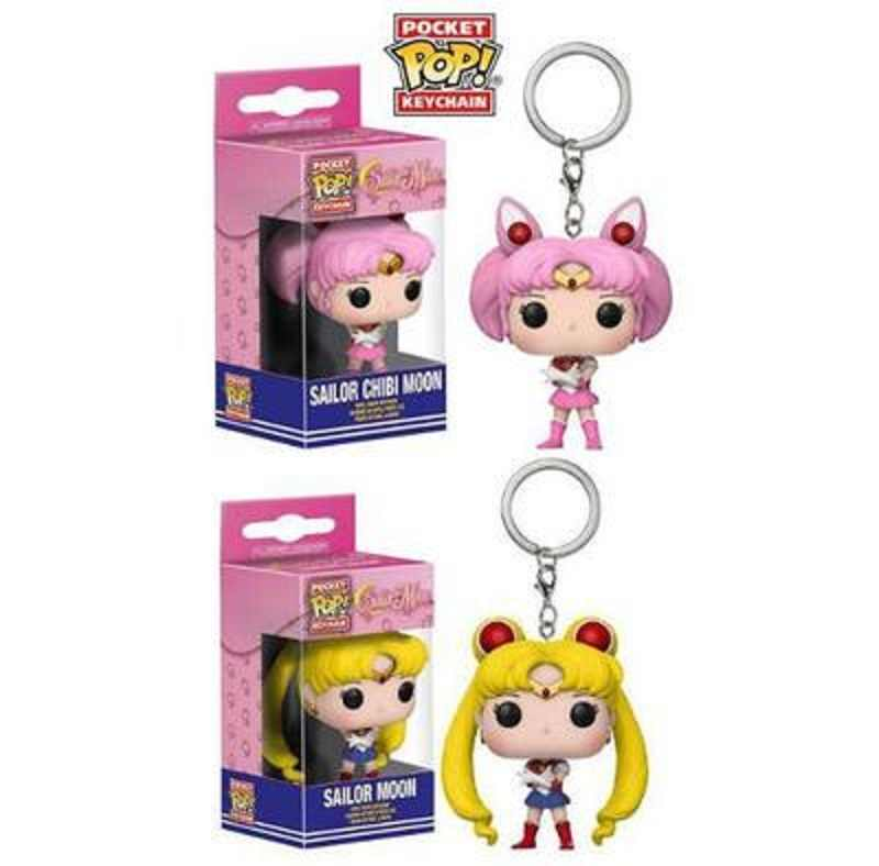 POP น่ารัก Sailor Moon & Sailor Chibi Moon pocket pop Keychain action Figure Collection ของเล่นเด็กกล่อง