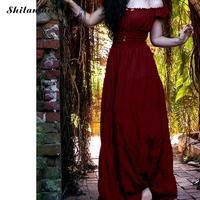 Women Vintage Renaissance Gothic Dress Floor Length Cosplay Costume Medieval Retro Gown Women Tunic Summer Long Dress Plus Size