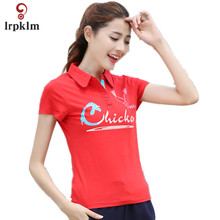 M 6XL Women Polo Fast Dry Slim Breathable Solid Chicken Print Womens Polo Shirt Female Summer