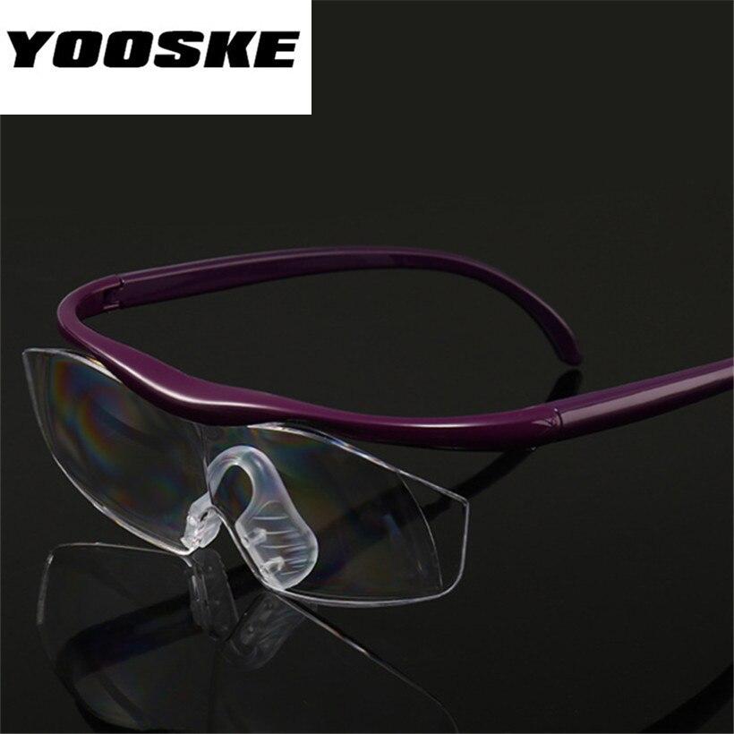 2f81dbd42a YOOSKE de gran visión 1,8 veces gafas de lectura aumenta visión de 300  grados lente de aumento de la presbicia gafas + 300