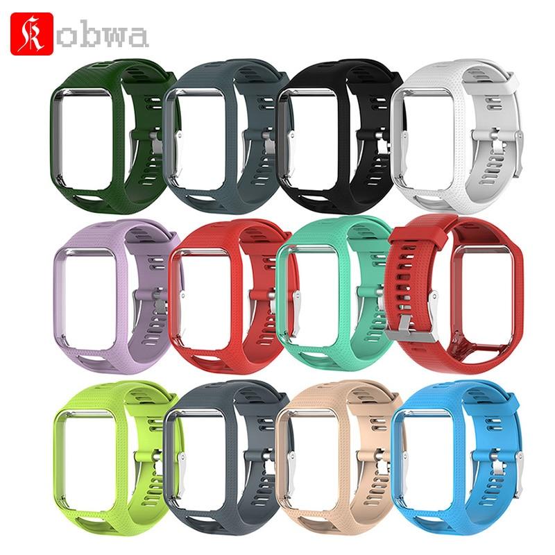 Kobwa Armband für TomTom 2 3 Serie Armband Silikon ersatz Für TomTom Runner 2 3 GPS uhr