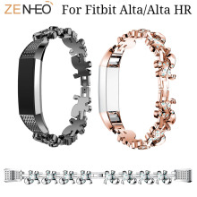 Womens Bracelet Lovely Rhinestone Stainless Steel Band for Fitbit Alta/Alta HR watch Strap Wristband For Alta Watchbands