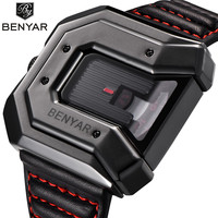 BENYAR New Creative Quartz Watch Men Top Brand Luxury Leather Waterproof Business Wristwatches Sports Watches relogio masculino