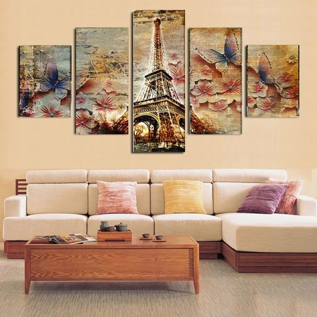 No marcos 5 unids arte moderno pintura al leo abstracta - Manualidades cuadros modernos ...