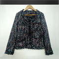 2016 New Tweed Coat Ladies Jacket New High-end Small Fragrant Wind Beaded Jacket a Generation Woolen Coat Vestidos