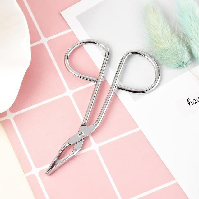 1PCS Scissors Flat Tip Eyebrow Extension Tweezer Clamp Plier Eyebrows Clipper Stainless Steel Eyelash Hair Remove Epilating 4